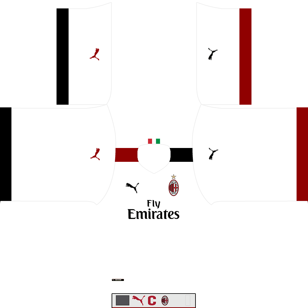 AC Milan Away Kit Kits AC Milan 2019 2020
