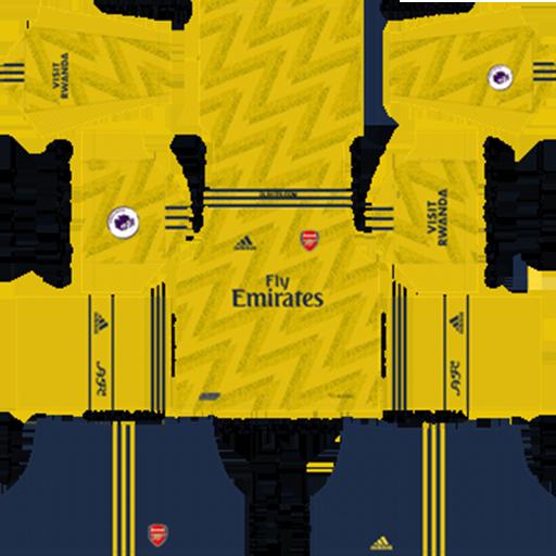 Arsenal Away Kit 2019 20 DLS 19 Kits Dream League Soccer DLS Arsenal Kits 038 Logos 2019 2020