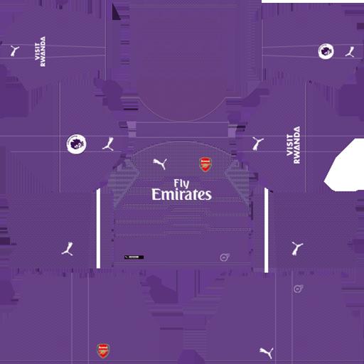 Arsenal Goalkeeper Away Kit 2018 19 DLS Kits DLS Arsenal Kits 038 Logos 2019 2020