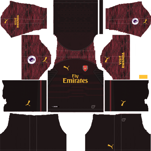 Arsenal Home Goalkeeper Kits 2018 19 Dream League Soccer DLS Arsenal Kits 038 Logos 2019 2020