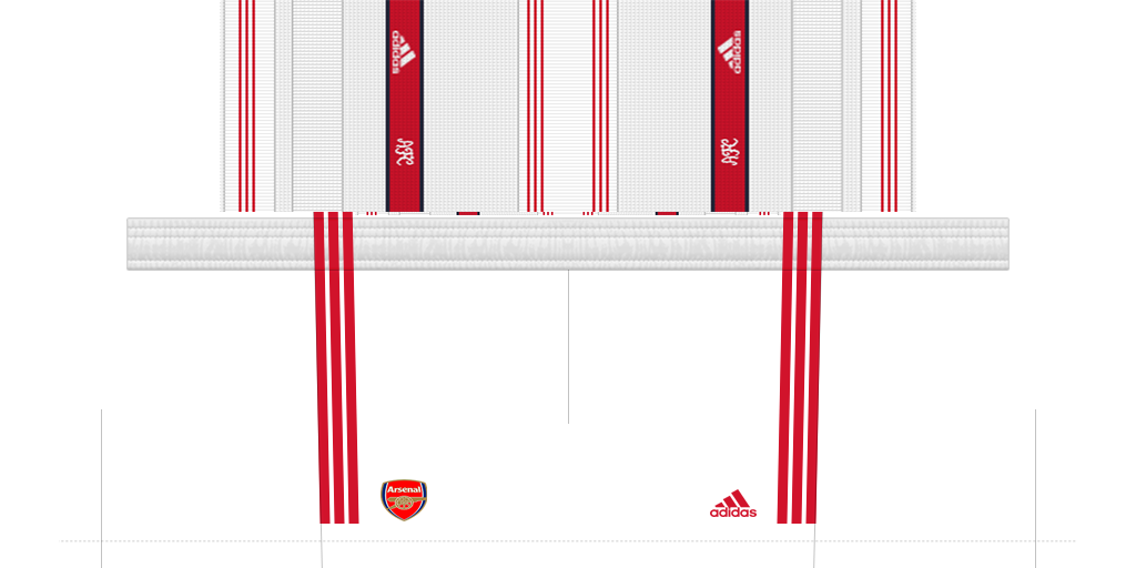 Arsenal Shorts Home 1024x512 Kits Arsenal 2019 2020 RX3 Added