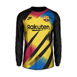 Barcelona Goalkeeper Champions League MiniKit Kits FC Barcelona 2019 2020 RX3 Added