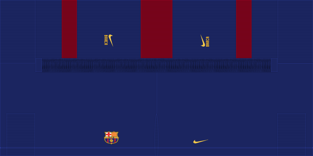 Barcelona Home Shorts 1024x512 Kits FC Barcelona 2019 2020 RX3 Added