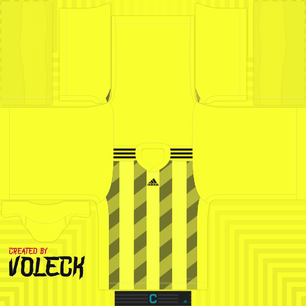 Bright Yellow Black Jersey 1024x1024 Kits Striped 19