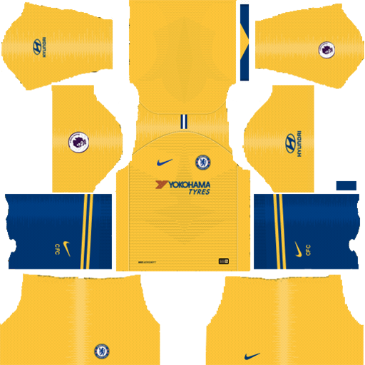 Chelsea FC Away Kit 2018 19 DLS Kits DLS Chelsea Kits 038 Logos 2019 2020