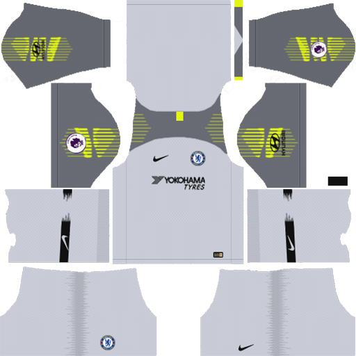 Chelsea FC Kit 2018 19 Goalkeeper Away DLS Kits DLS Chelsea Kits 038 Logos 2019 2020