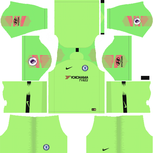 Chelsea FC Kit 2018 19 Goalkeeper DLS Kits DLS Chelsea Kits 038 Logos 2019 2020