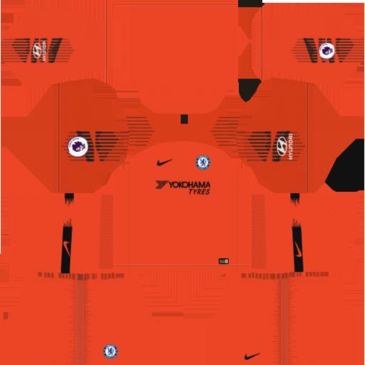 Chelsea FC Kit 2018 19 Goalkeeper Third DLS Kits DLS Chelsea Kits 038 Logos 2019 2020