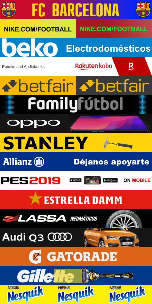 FC BARCELONA ADBOARDS SECOND 512x1024 Adboards FC Barcelona 2019 2020