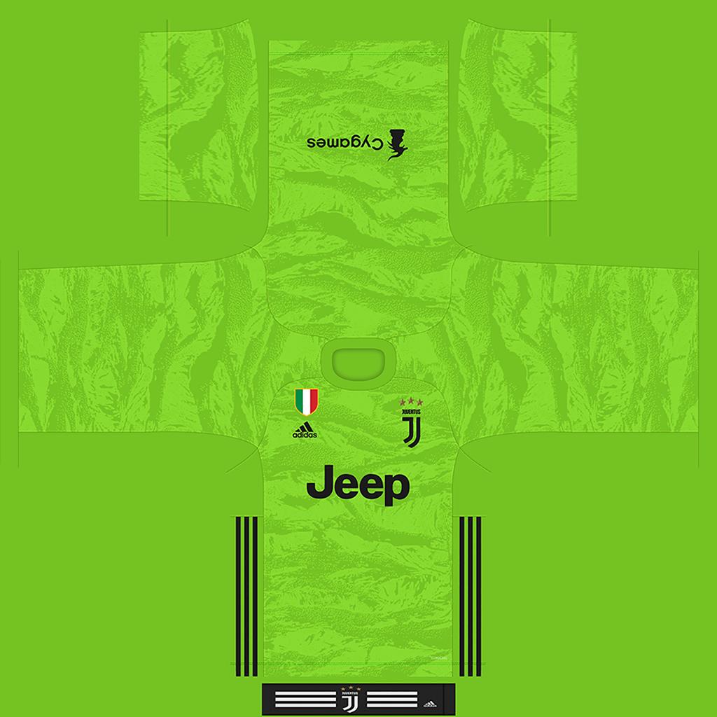 Juventus Third GK Kit 1 Kits Juventus 2019 2020 New Kit Added