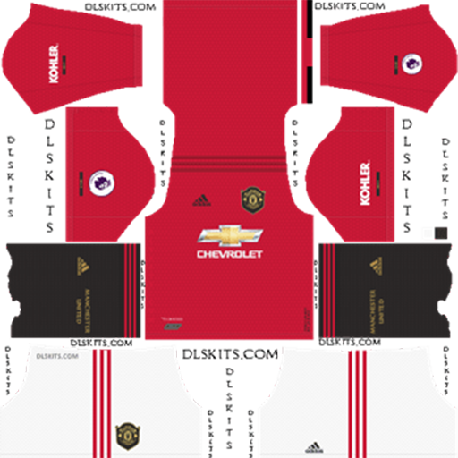 Manchester United Home Kit 2019 20 DLS 19 Kits Dream League Soccer DLS Manchester United Kits 038 Logos 2019 2020