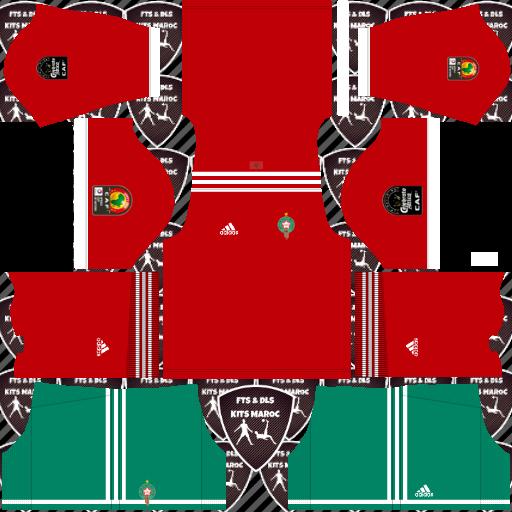 Morocco Home Kits DLS Morocco Kits 038 Logos 2019 2020