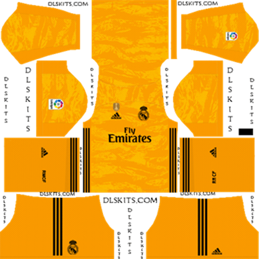 Real Madrid 2019 20 Goalkeeper Home Kit DLS 19 Kits Dream League Soccer DLS Kits 038 Logos