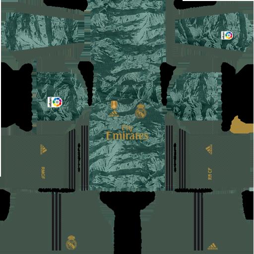 Real Madrid Goalkeeper Away Kit 2019 20 DLS 19 Kits DLS Real Madrid Kits 038 Logos 2019 2020