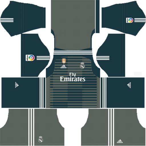 Real Madrid Goalkeeper Third Kits 2018 19 For Dream League Soccer DLS Kits 038 Logos