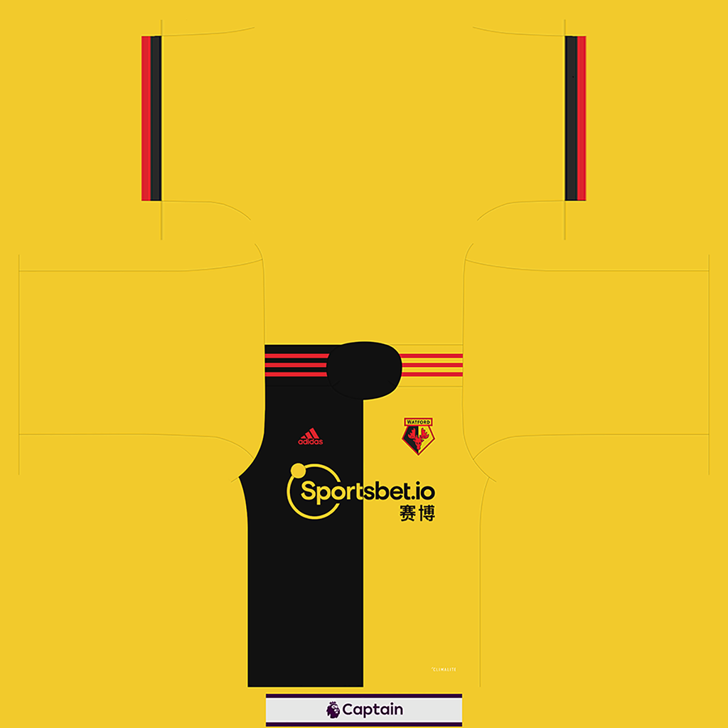 Watford Shirt Home Kits Watford 2019 2020