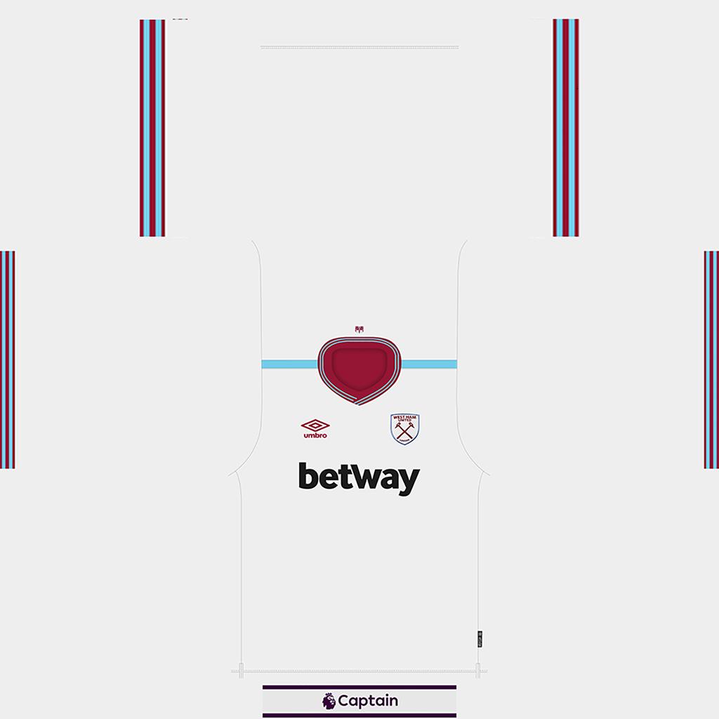 West Ham United Shirt Away Kits West Ham United 2019 2020