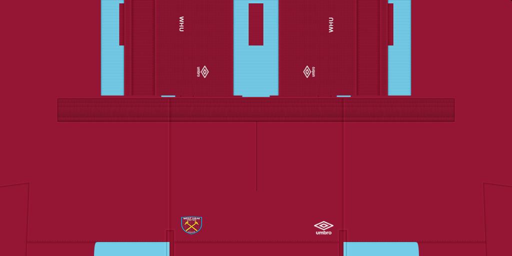 West Ham United Shorts Home 1024x512 Kits West Ham United 2019 2020