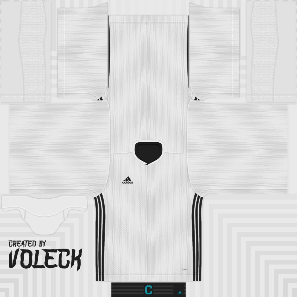 White Black Jersey 1 1024x1024 Kits Adidas Tiro 19