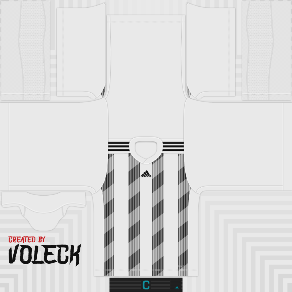 White Black Jersey 1024x1024 Kits Striped 19