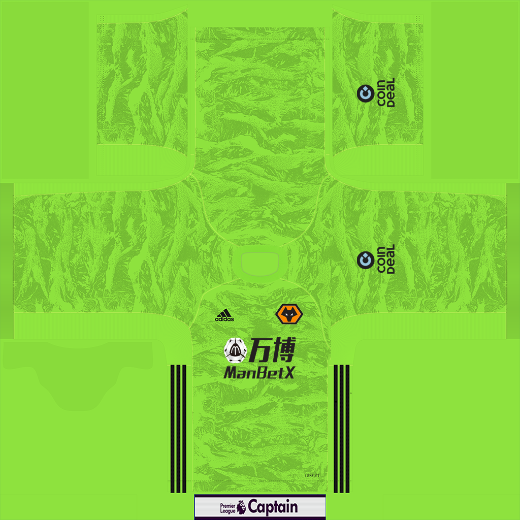 Wolverhampton Goalkeeper 1 1 Kits Wolverhampton 2019 2020 Updated