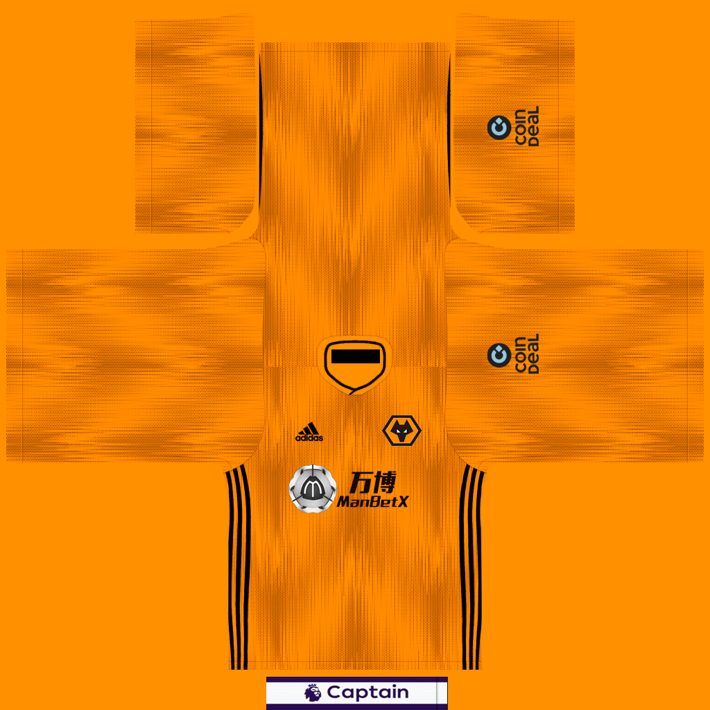 Wolverhampton Home Shirt 1 Kits Wolverhampton 2019 2020 Updated