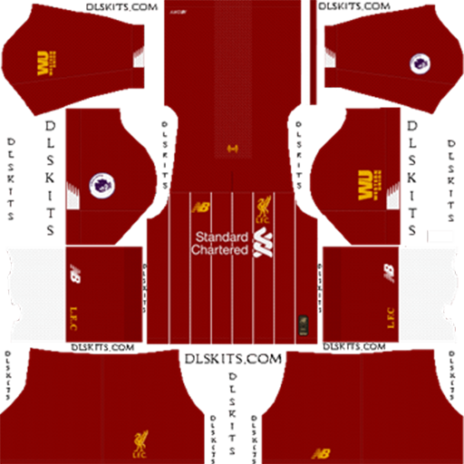 Liverpool Home Kit 2019 2020 DLS 19 Kits Dream League Soccer DLS Liverpool Kits 038 Logos 2019 2020