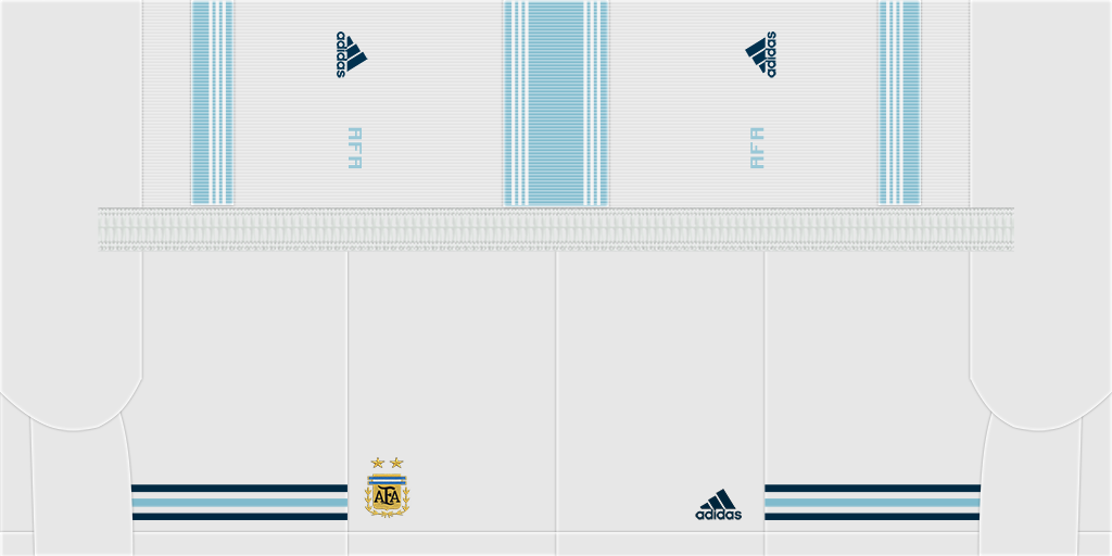 Argentina Home Shorts 2 Kits 8211 Argentina 8211 2019
