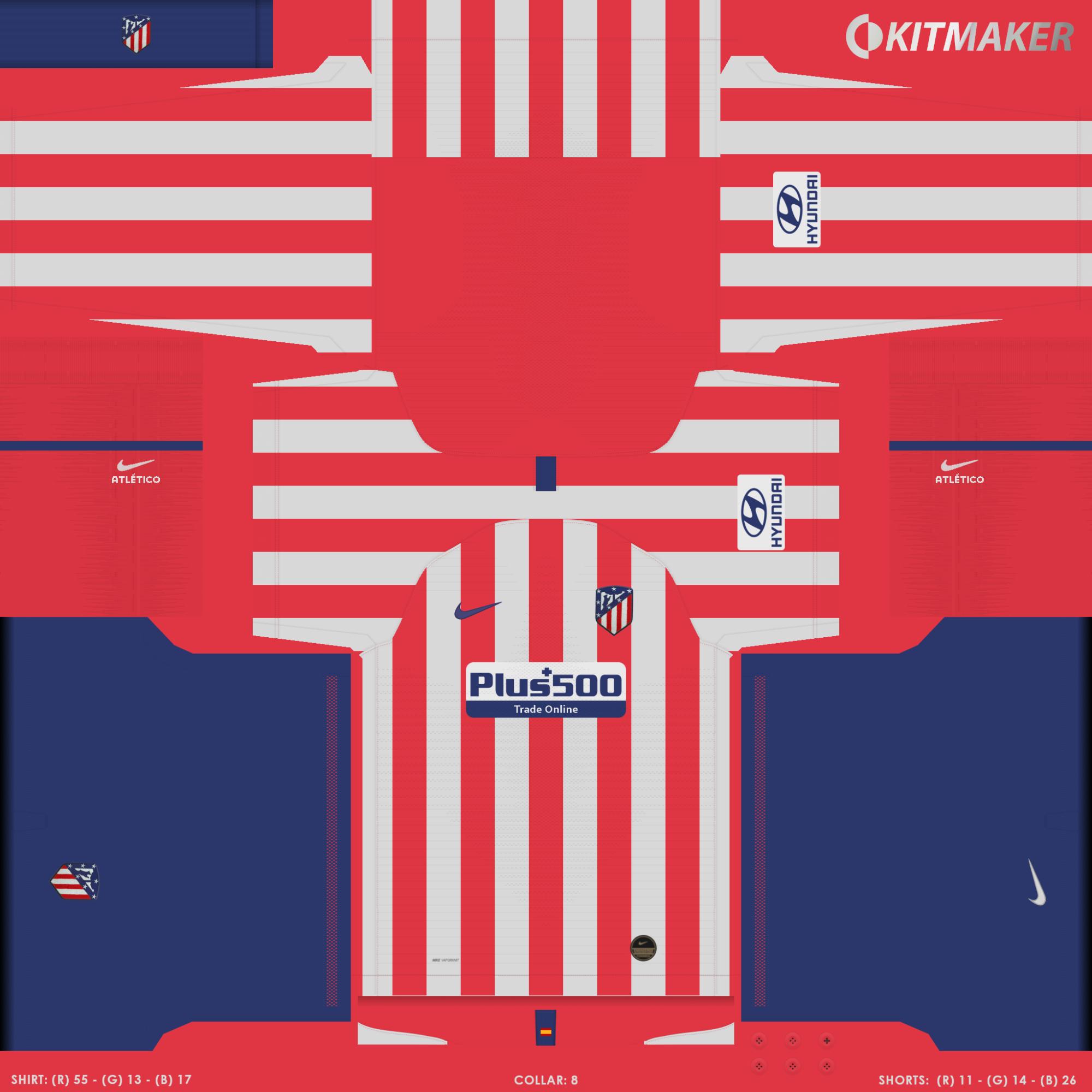 Atl Tico Madrid 1 2000x2000 PES La Liga Kits Pack 2019 2020