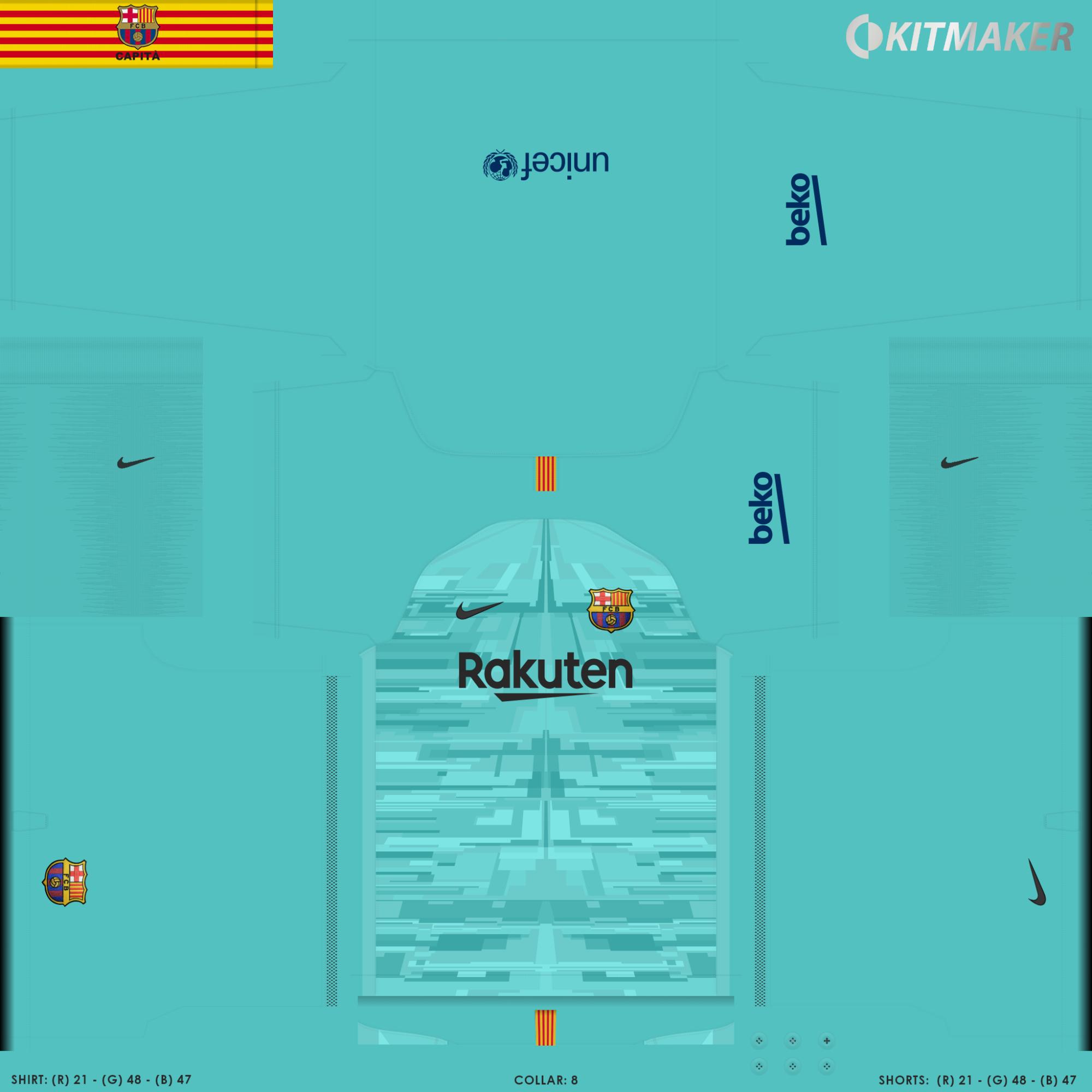 Barcelona 3 2000x2000 PES La Liga Kits Pack 2019 2020
