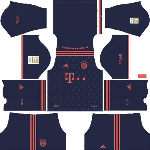 Bayern Munich Kits 2019 2020 Away Kit 1 DLS Bayern Munich Kits 038 Logos 2019 2020
