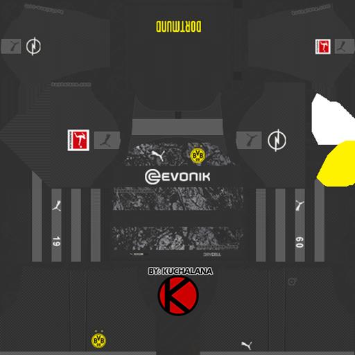Borussia Dortmund Away Kits DLS Borussia Dortmund Kits 038 Logos 2019 2020