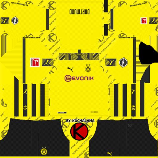 Borussia Dortmund Home Kits DLS Borussia Dortmund Kits 038 Logos 2019 2020