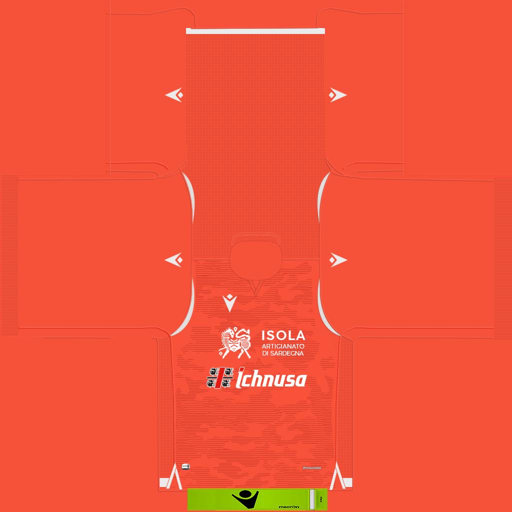 Cagliari GK Kit Kits Cagliari 2019 2020