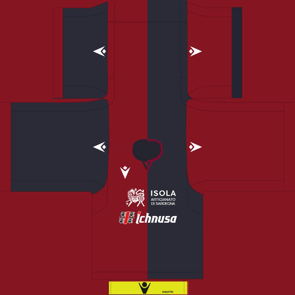 Cagliari Home Kit Kits Cagliari 2019 2020