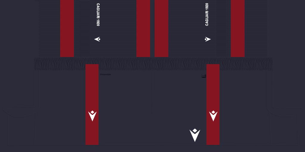 Cagliari Home Shorts Kits Cagliari 2019 2020