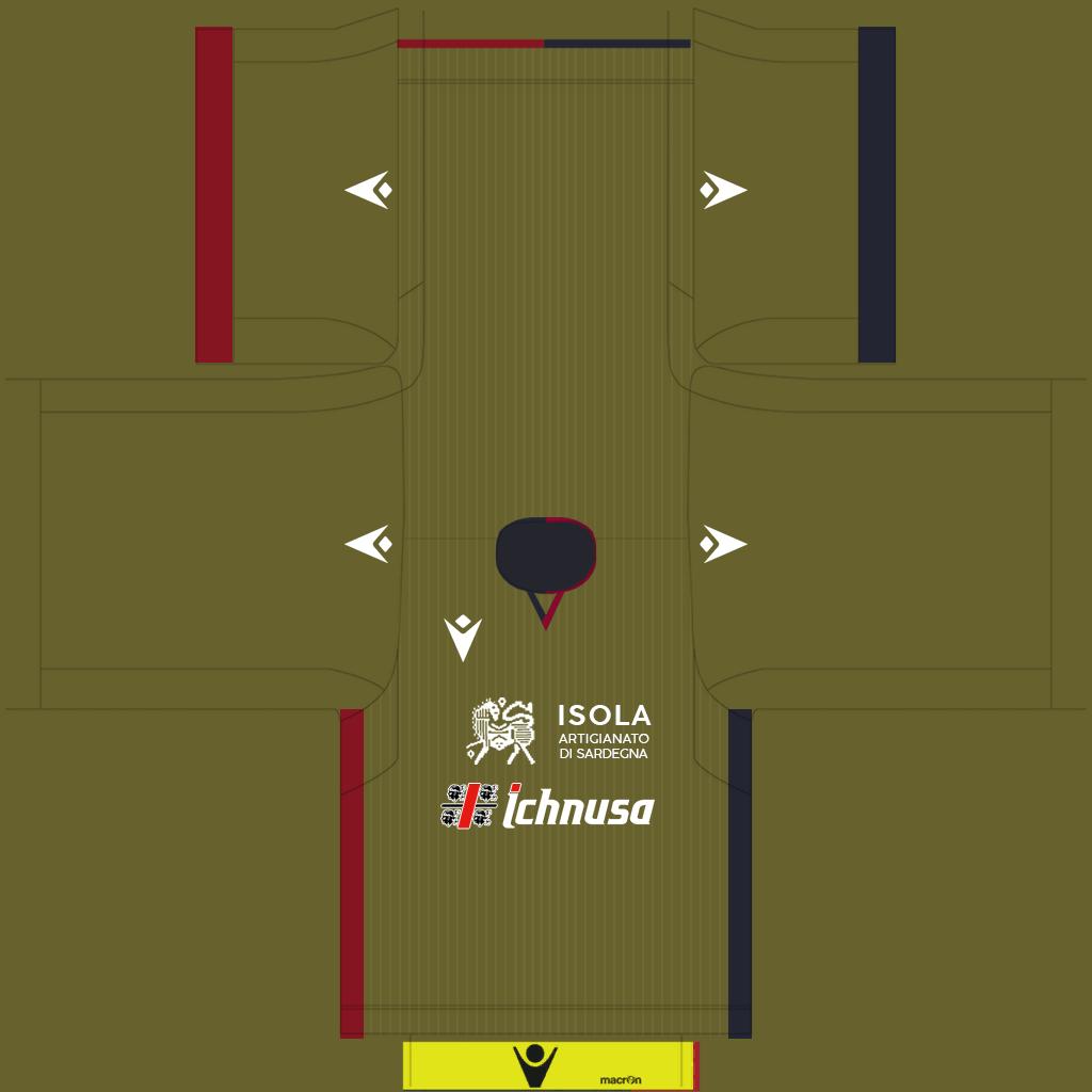 Cagliari Third Kit Kits Cagliari 2019 2020