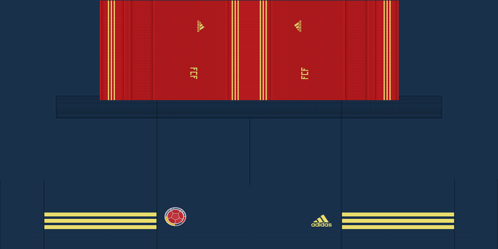 Colombia Home Shorts Kits 8211 Colombia 8211 2019