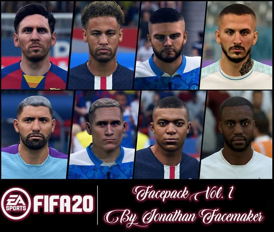 Facepack V 1 For FIFA19 FIFA 19 Facepack V 1 By Jonathan Facemaker