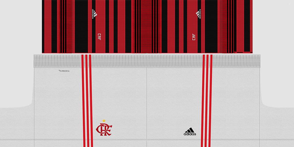 Flamengo Home Shorts 1 Kits 8211 Flamengo 8211 2019 2020