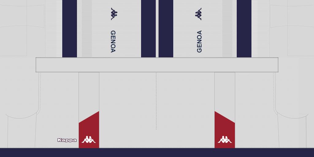Genoa Away Shorts Kits Genoa 2019 2020