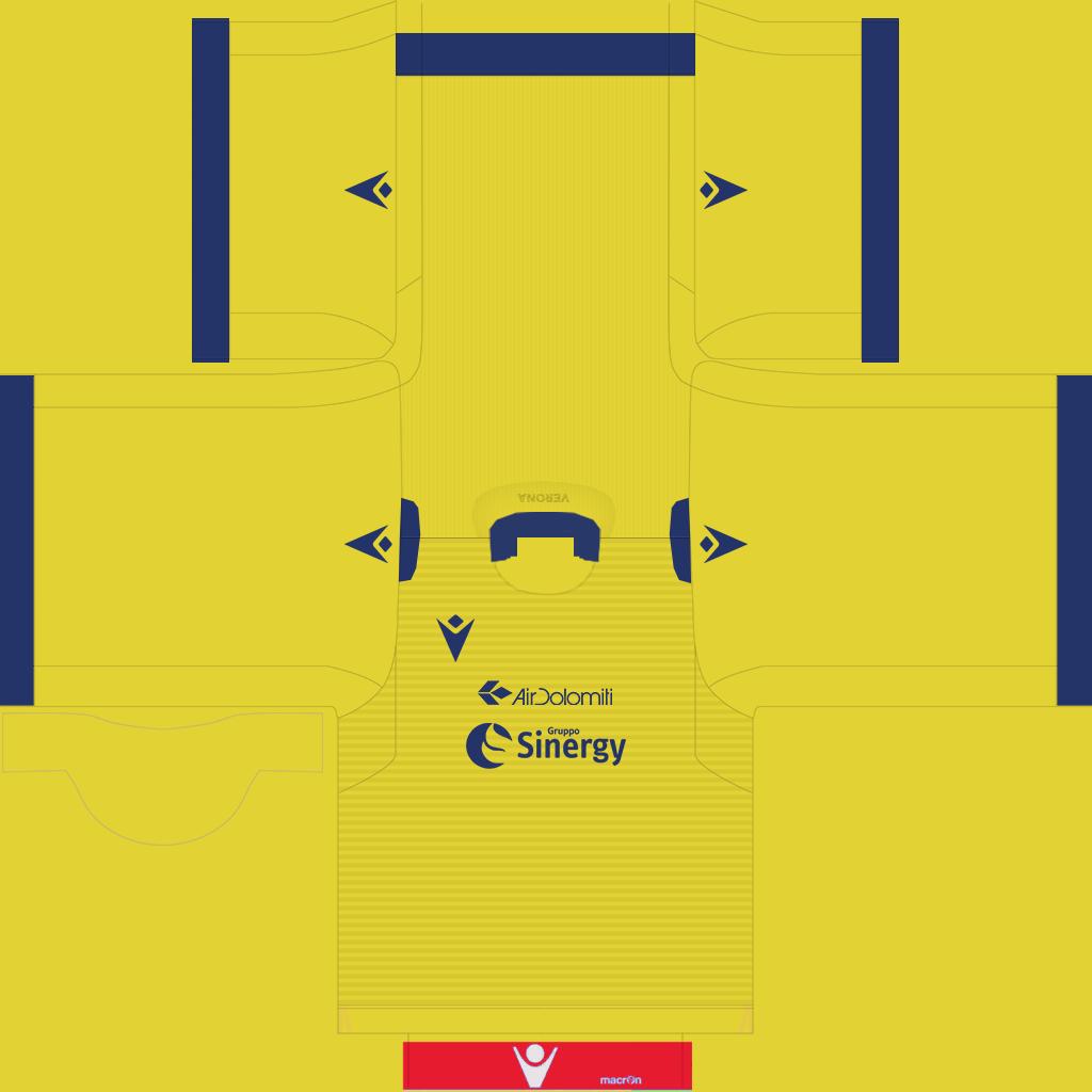Hellas Verona Away Kit Kits Hellas Verona 2019 2020