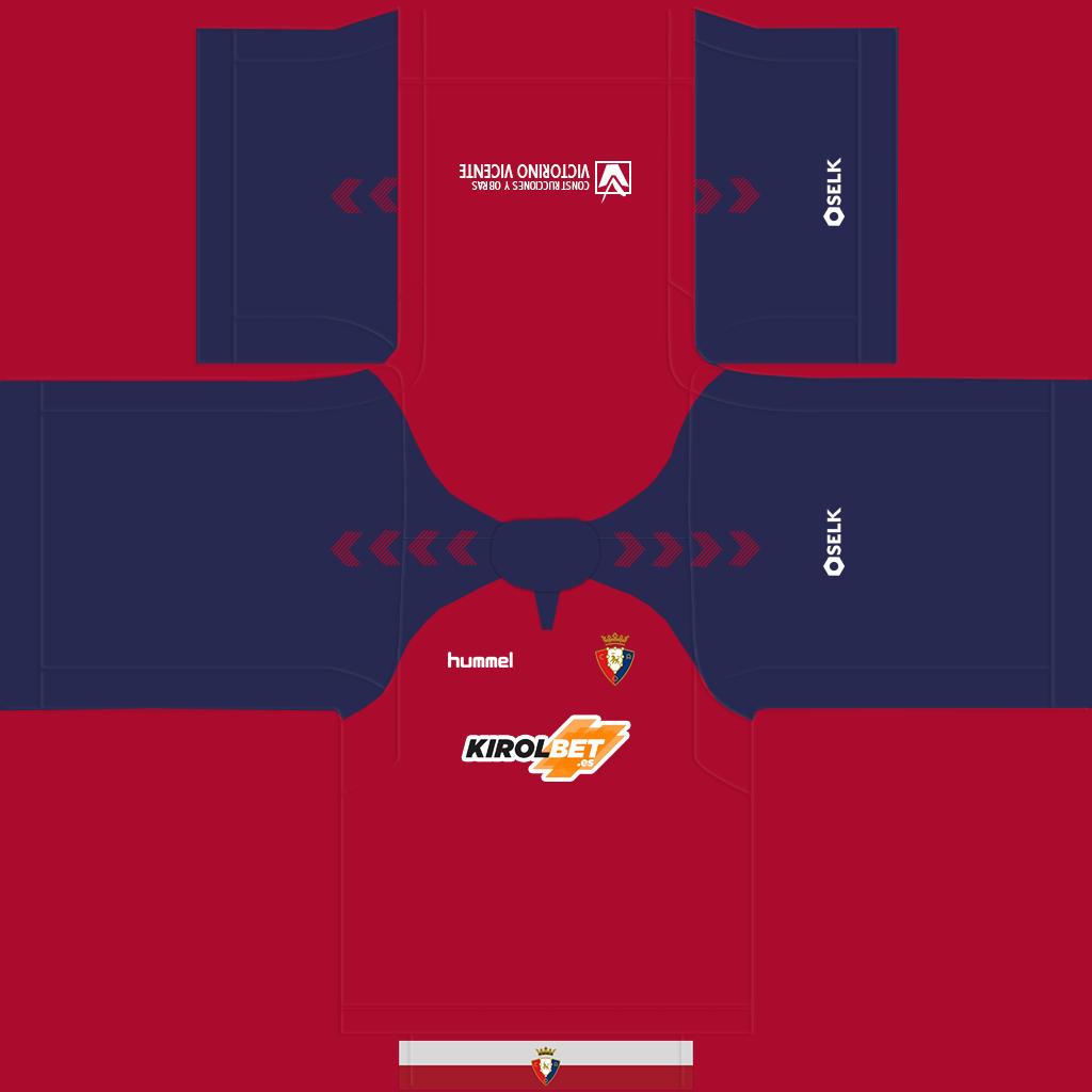 Osasuna Home Kit Kits Osasuna 2019 2020