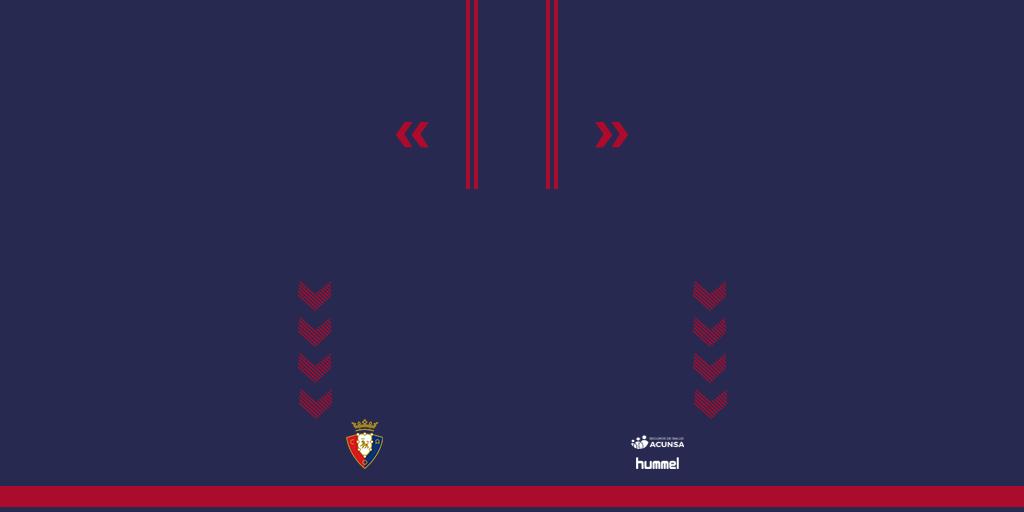 Osasuna Home Shorts Kits Osasuna 2019 2020