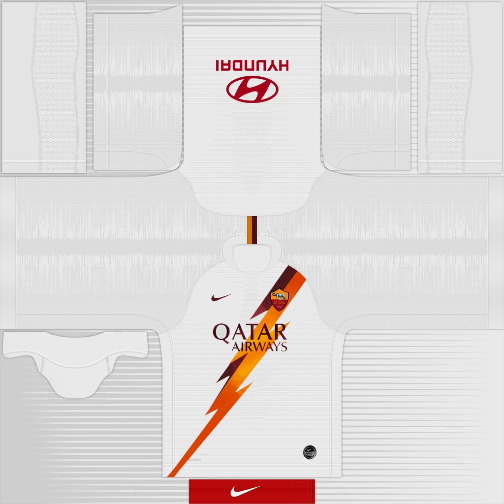 Roma Away Kit Kits Roma 2019 2020