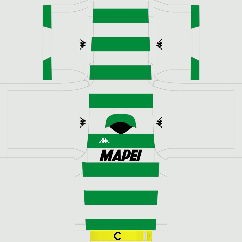 Sassuolo Away Kit Kits Sassuolo 2019 2020
