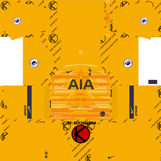 Tottenham GK Away Kit DLS Tottenham Kits 038 Logos 2019 2020
