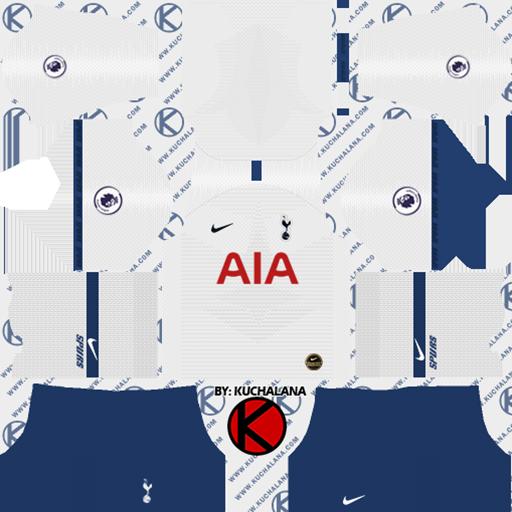 Tottenham Home Kit DLS Tottenham Kits 038 Logos 2019 2020