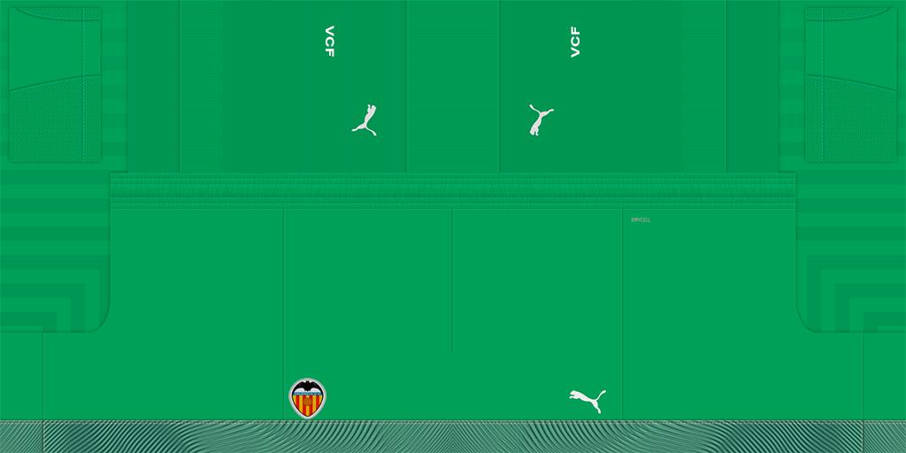 Valencia GK Shorts Kits Valencia 2019 2020