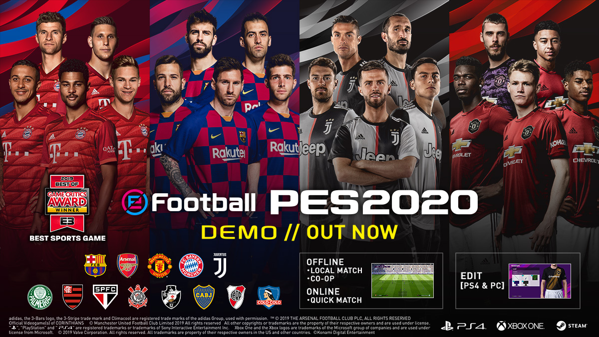 Pes2020 Demo SPECIAL Vote For Your Favorite Game